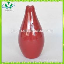Glasierte rote billige Blumen Vase zum Verkauf