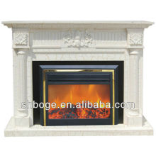 good artistic brown oak mantel fireplace