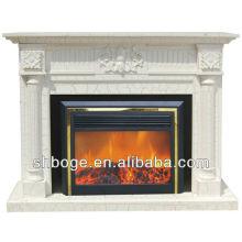 good artistic brown oak mantel fireplace