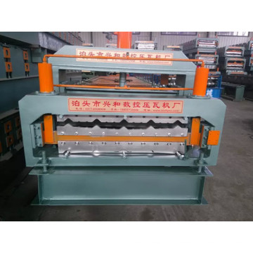 (Metalldach / glasierte / Stahl) Fliesenrollenformmaschine