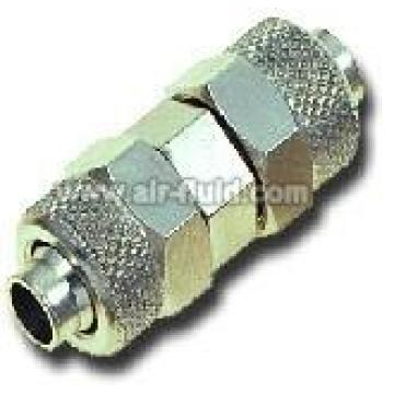 Bulkhead Connector N.P Brass Rapid Push-over Tubing Fittings