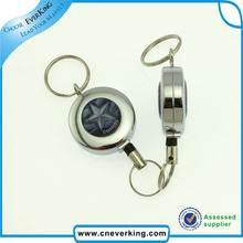 Carrete de chapa con llave metálica fuerte con clip giratorio