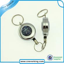 Bobine d'insigne de clé forte en métal avec clip pivotant
