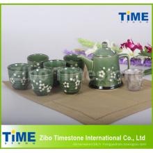 Service à thé vintage en céramique 9PCS fabriqué en Chine