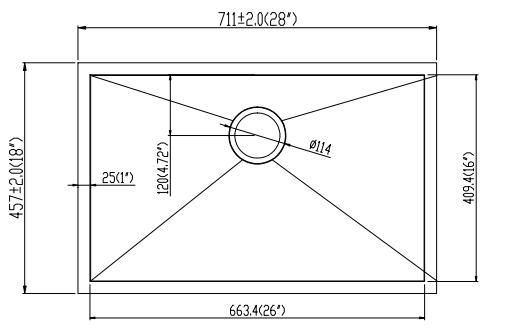 28''18''10'' Line Drawing