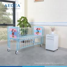 AG-CB003 hospital alloy side rail medical baby cot bed with I.V pole