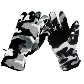 Trendy Camouflage Thickened Windproof Polar Fleece Gloves