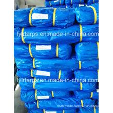 China Factory Supply Finished Sky Blue PE Tarpaulin, PE Tarp Cover, Poly Tarp Cover