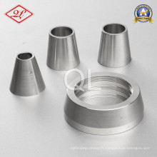 Réducteur concentrique de soudure sanitaire en acier inoxydable