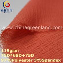 Spandex poliéster chiffon tecido liso para t-shirt vestido (glml359)