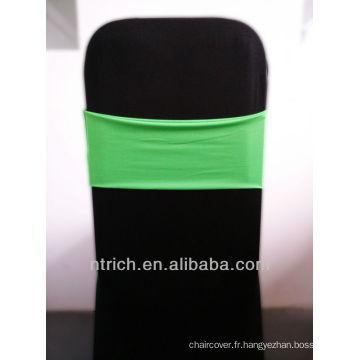 chaise de mariage ceintures, magnifique bande de Spandex, Lycra bande, vert