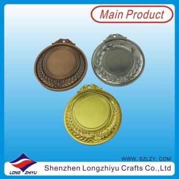 Medaillen Metal Blank Medaille 65mm Gold Silber Bronze Blank Sport Medaille Metal (lzy00048)
