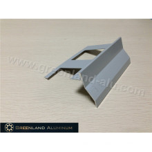 Aluminum Corner Trim Profile with Powder Coated Grey