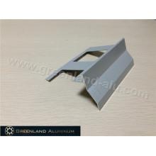 Perfil de alumínio canto Trim com pó revestido cinza