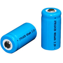 3.2V 400mAh LiFePO4 Batteries, 16340, Discharge Rate 3C, Able to Work Under High/Low Temperature