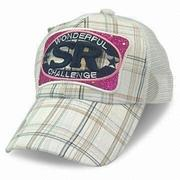 New Sports Cap with Embroidery and Plastic Strap at Back, Measures 57 and 58cm