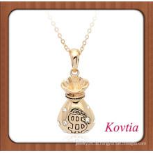 Großhandel Schmuck Gold Geld Tasche Form Halskette Design