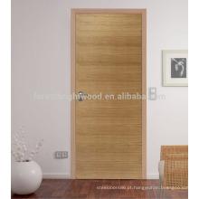 Portas internas de madeira niveladas populares