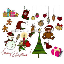 Etiqueta engomada no tóxica del tatuaje de la etiqueta engomada temporal del árbol de navidad del tatuaje para la fiesta de Navidad