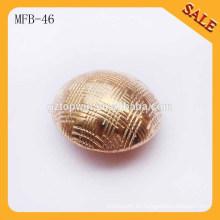 MFB46 Botón metálico del botón de varios diseños botón de presión del metal Utilizado para el botón de los pantalones vaqueros del metal