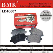 Plaquettes de frein de qualité supérieure (LD40007) pour Audi A6