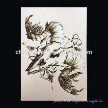 OEM оптовые водонепроницаемые татуировки для рук скорпиона руку татуировки ленты руку татуировки W-1013