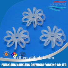 black White Plastic Teller rosetter Rings for water treatment(RPP PVC CPVC PP PE PVF)