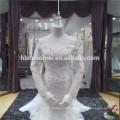 Vestido noiva Fischschwanz offenen Rücken lange Maxi Meerjungfrau Hochzeitskleid Verkauf