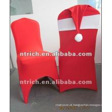 tampa da cadeira de elastano/lycra encantador para o Natal