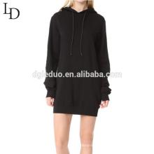 Sudadera con capucha de manga larga sin respaldo de alta calidad para mujeres
