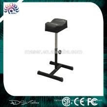 Регулируемый по высоте кожаный стул для ног, татуировка подставки из нержавеющей стали TTKS020