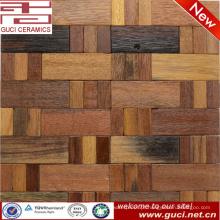 Chão de sala de estar por atacado preços telha azulejos de parede de madeira de mosaico