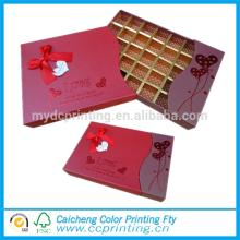 Caja de empaquetado del regalo de la caja de papel del chocolate del cartón