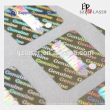 Mehrfarbiges kundenspezifisches holographisches Aufkleberetikett mit eigenem Logo