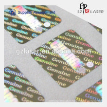 Multi-color custom holographic sticker label with own logo