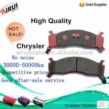 Plaquettes de frein à disque de haute qualité chrysler