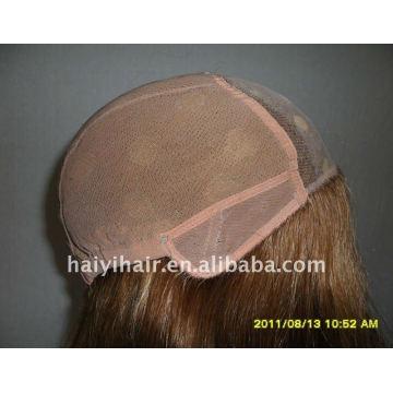 100% perucas de cabelo indiano mono top