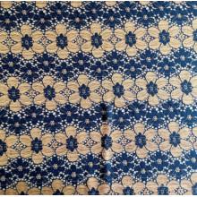 Nuevo diseño Nylon Jacquard dos colores Lace tejido chino Nylon Lace