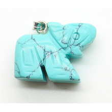 Elephant Shape Turquoise pendant