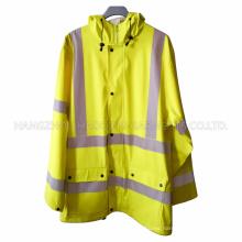 Impermeable amarillo PU de seguridad para adultos