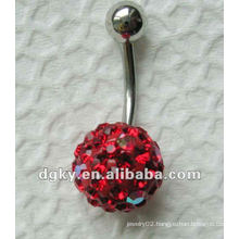 stainless steel fancy dangle belly ring wholesale navel button