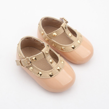Bébé Robe Pu Cuir Rivet T-bar Chaussures