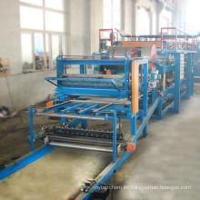 Construcción utilizada línea de producción de panel sándwich máquina pu panel sándwich