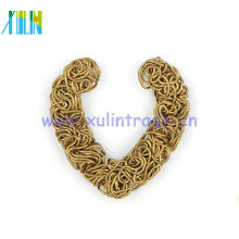 resultados de joyería de moda bricolaje forma de corazón de alambre de metal HT00112