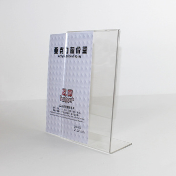 Vertical Menú Display Stand Clear Acrylic Sign Holder