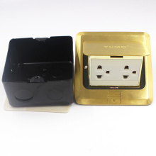 Yumo Brass Cover Ground Socket Electrical Pop up Floor Socket