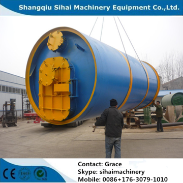 Pyrolysis Scrap Tyre to Crude Oil Machine
