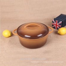 non stick soup tureen mini pot-glossy brown