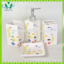 4pcs ceramic bath set,bathroom accessories for kids