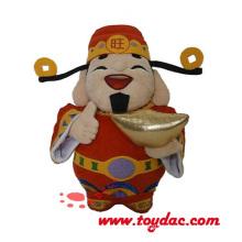 Plüsch-chinesische Feiertags-Maskottchen-Puppe